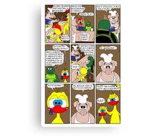 "Rick the chick  ""THE MAGIC SHELL (ITALIANO) parte 25"" Canvas Print"