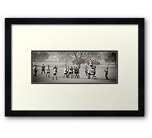 'Country Rugby' Line Out Framed Print