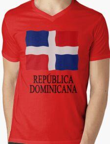 Flag Dominican Republic Mens V-Neck T-Shirt