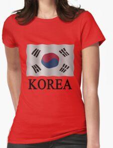 Korea Flag Womens Fitted T-Shirt