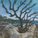 Sea tree- miniature pastel by maria paterson
