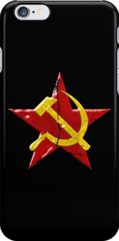 Large distressed Soviet symbol by puppaluppa