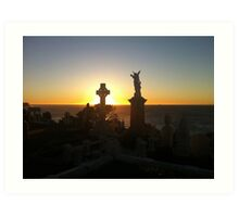 Waverley Cemetery - Sunrise Art Print