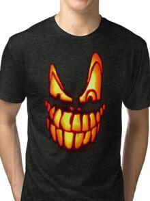 PUMPKIN FACE I Tri-blend T-Shirt