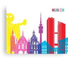 Munich skyline pop Canvas Print