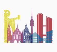 Munich skyline pop Kids Clothes