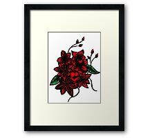 Red floral bouquet Framed Print