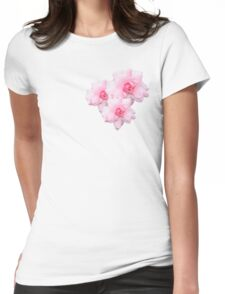Pale Pink Rose Womens Fitted T-Shirt