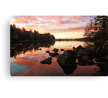 Fall Color - Highland Lake Canvas Print
