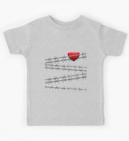 Don't Touch my Heart Kids Tee