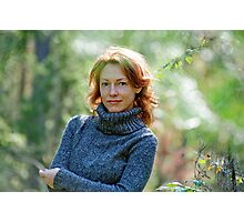 Portrait of woman in nature Photographic Print