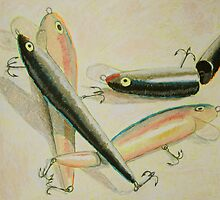 """Four Fishing Lures II"" by Richard Robinson"