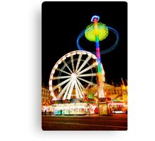 Dam Square Funfair, Amsterdam Canvas Print