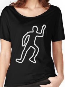Dead body chalk outline Women's Relaxed Fit T-Shirt