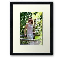 Woman in nature Framed Print