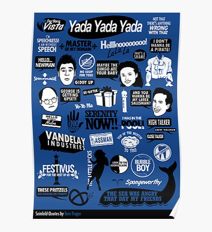 Seinfeld Quotes Poster