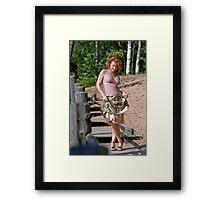 Woman in dune Framed Print