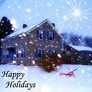 Happy Holidays Card by Debbie Robbins