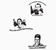 Ghostbusters sticker sheet 1 (Peter, Janine, Winston) by MightyRain