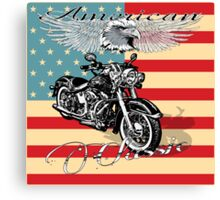 Classic Harley Hog Canvas Print