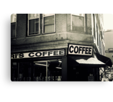 Boston North End Coffee Shop Canvas Print