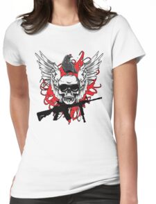 Skull M4 Carbine Womens Fitted T-Shirt