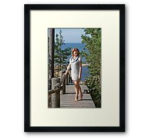 Women at the sea Framed Print