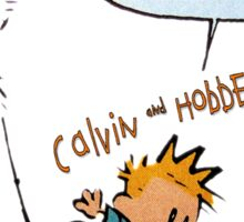 calvin and hobbes Sticker
