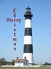 Bodie Lighthouse - Outer Banks - Christmas Card by MotherNature