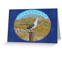 Singing Seagull Christmas Card Greeting Card
