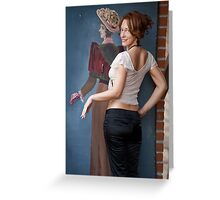 Women and retro picture Greeting Card