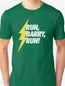 Run, Barry, Run! (White on Red) T-Shirt