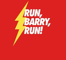 Run, Barry, Run! (White on Red) Unisex T-Shirt