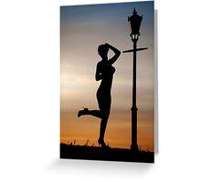 Dance at sunset Greeting Card