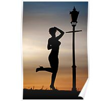Dance at sunset Poster