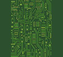 Circuit board iPhone by DarkArrow