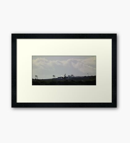 Just before touch down Framed Print