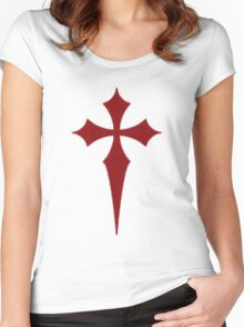 Goth Cross Women's Fitted Scoop T-Shirt