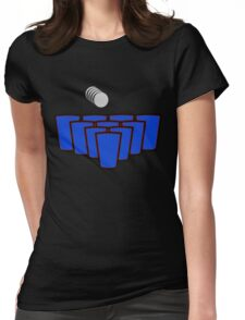 Beer Pong Womens Fitted T-Shirt