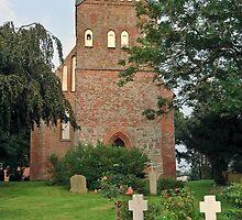 MVP113 Pütte Village church, near Stralsund, Germany. by David A. L. Davies