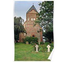 MVP113 Pütte Village church, near Stralsund, Germany. Poster