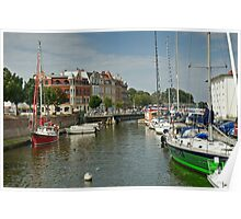 MVP114 Stralsund canal Harbour, Germany. Poster