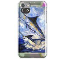 Two Marlin a Blue and a Striper iPhone Case/Skin