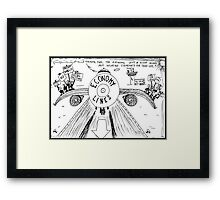 Occupy Wall Street Airline Framed Print