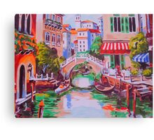 Venice -oil painting on canvas backdrop Canvas Print