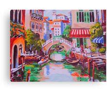 Venice -oil painting on canvas backdrop Canvas Print
