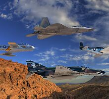 Four Generations of U.S. Air Force Fighter Aircraft by Michael  Hays