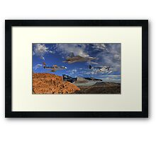 Four Generations of U.S. Air Force Fighter Aircraft Framed Print