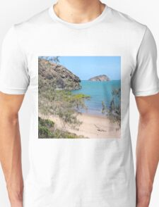 Island in the bay with trees and beach T-Shirt