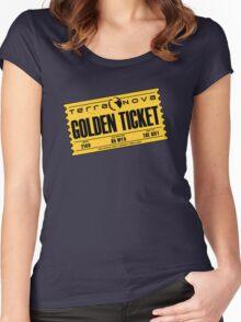 Terra Nova Golden Ticket Women's Fitted Scoop T-Shirt